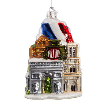 Paris City Glass Tree Decoration