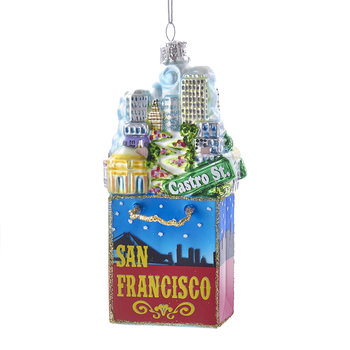 San Francisco City Glass Tree Decoration