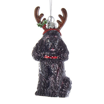 Poodle Tree Decoration - Black