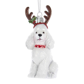 Poodle Tree Decoration - White