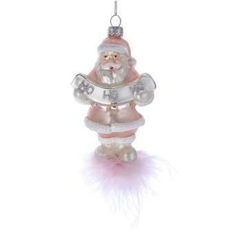 Gkass Santa Tree Decoration - Pink