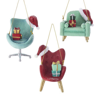 Vintage Chair Tree Decorations - Set of 3