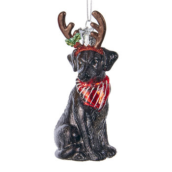 Labrador Retriever Tree Decoration - Black