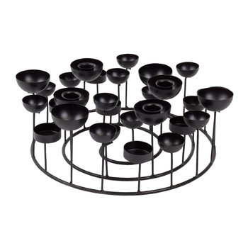 Medusa Round Candle Holder - Black