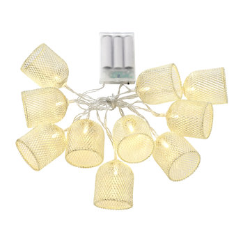 Mushroom Cage String Lights - Gold