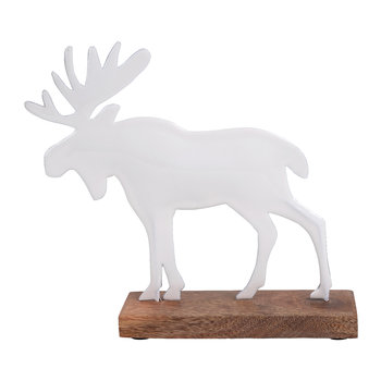 Nostalgie Moose Ornament - White