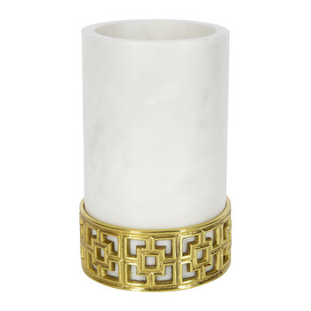 Nixon Wine Cooler - White Marble/Brass