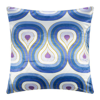 Milano Concentric Loops Cushion - Purple/Navy - 56x56cm