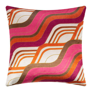 Milano Mod Tide Pillow - 46x46cm - Fuschia/Orange