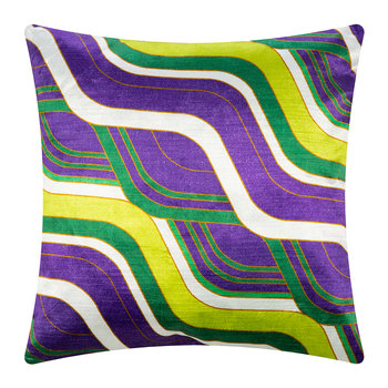Milano Mod Tide Pillow - 46x46cm - Emerald/Purple