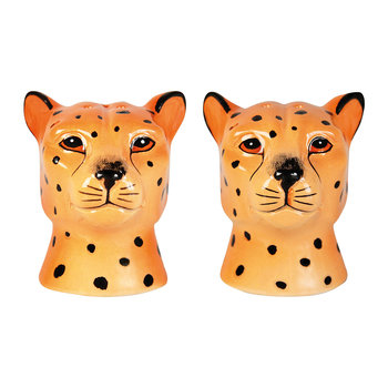 Leopard Face Salt & Pepper Shakers