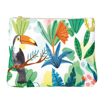 Bodil Toucan Wash Bag/Clutch - Cotton - Small