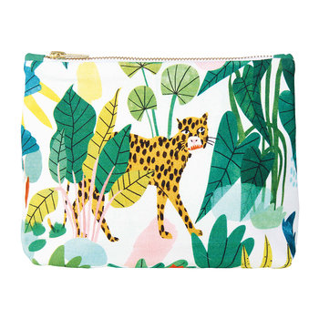 Bodil Leopard Wash Bag/Clutch - Cotton