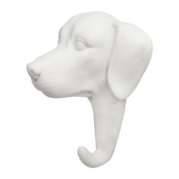 Dog Wall Hook - Porcelain - White