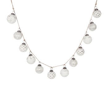 Bauble Garland - Winter White