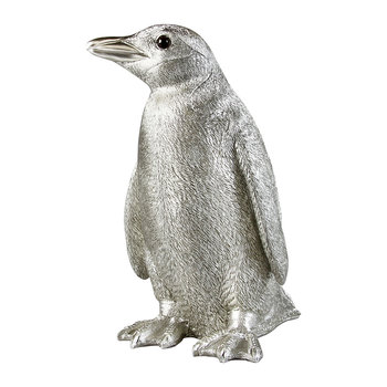 Penguin Money Box - Silver