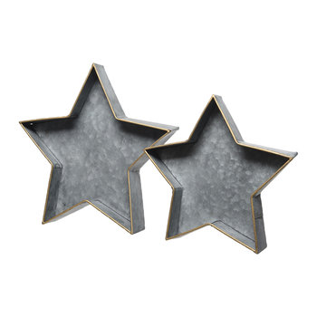 Iron Star Tray - Set of 2