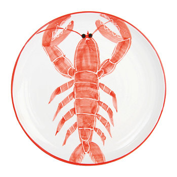Anouk Stoneware Fish Plate - 26cm - Lobster