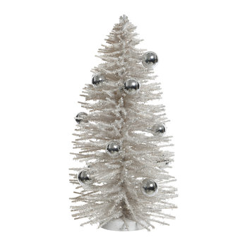Willow Tree with Baubles Decorative Ornament - Champagne