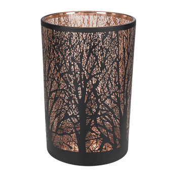 Laser Tree Tealight Holder - Black/Bronze