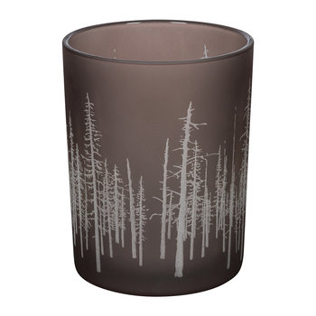 Sandblast Tree Tealight Holder - Brown