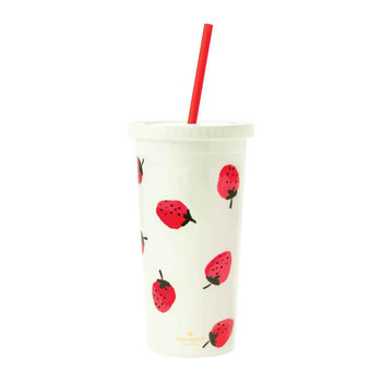 Tumbler with Straw - Strawberries