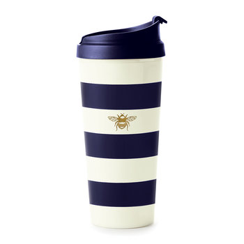 Thermal Mug - Navy Stripe & Bee