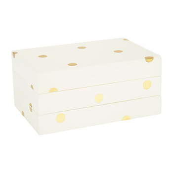 Gold Dot Lacquered Stacking Box