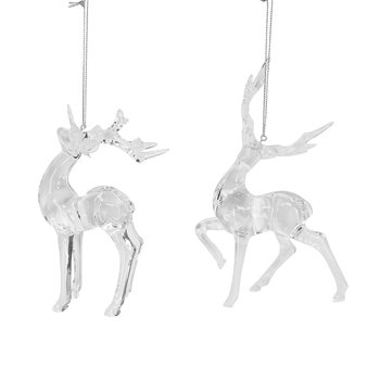 Acrylic Stag Tree Decorations - Set of 2