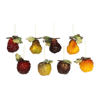 Assorted Fruit Decorations - Set of 8