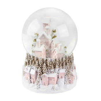 Pastel Village Musical Snow Globe