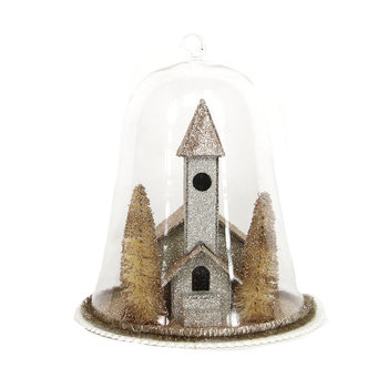 Vintage Church Domed Ornament
