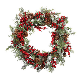 Mixed Red Berries Wreath