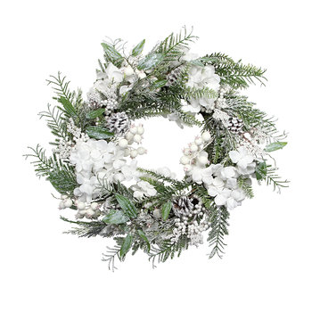 White Snowy Flower Wreath