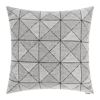 Tile Wool Cushion - 50x50cm - Black/White