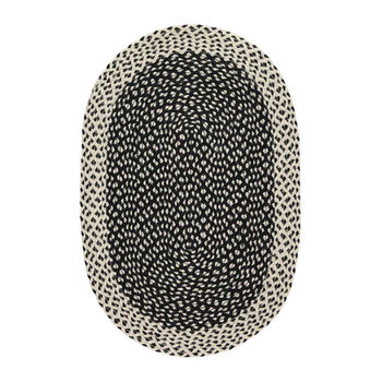 Organic Jute Oval Rug - New Black