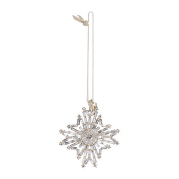Baguette Snowflake Christmas Tree Decoration