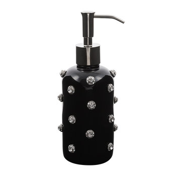 Nova Jewelled Glass Soap Dispenser - Black