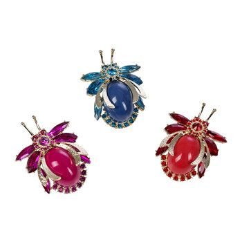 Cabochon Bug Clips - Set of 3