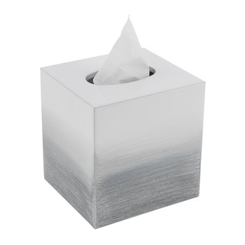 Ombre Tissue Box - Grey/Silver