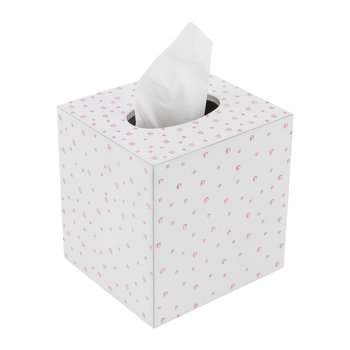 Stardust Tissue Box - White/Silver/Rose