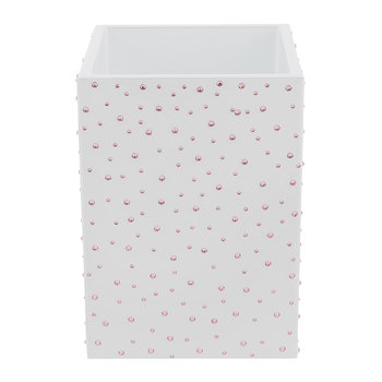 Stardust Mini Waste Bin - White/Silver/Rose