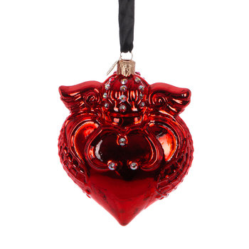 Imperial Heart Tree Decoration - Red