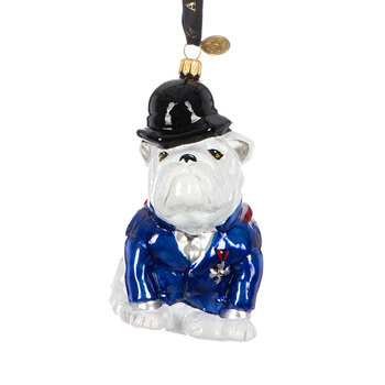 Bulldog Tree Decoration - Red/White/Blue