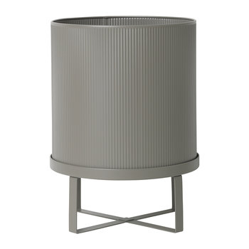 Bau Outdoor Plant Pot - Warm Grey