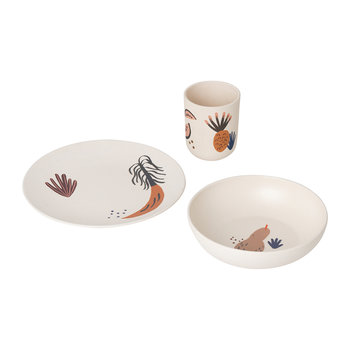 Children's Bamboo 3 Piece Dinner Set - Fruiticana