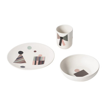 Children's Bamboo 3 Piece Dinner Set - Party