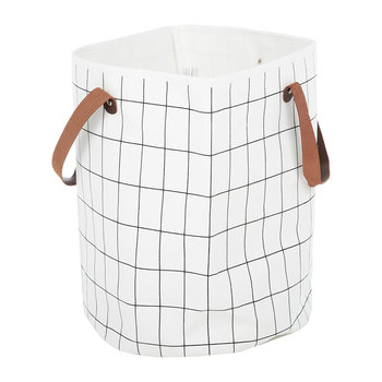Grid Organic Cotton Basket
