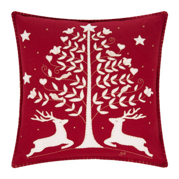 Folklore Deer and Tree Cushion