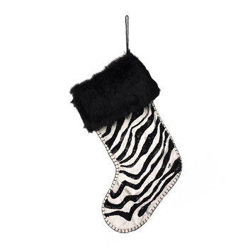 Sequin Zebra Stocking